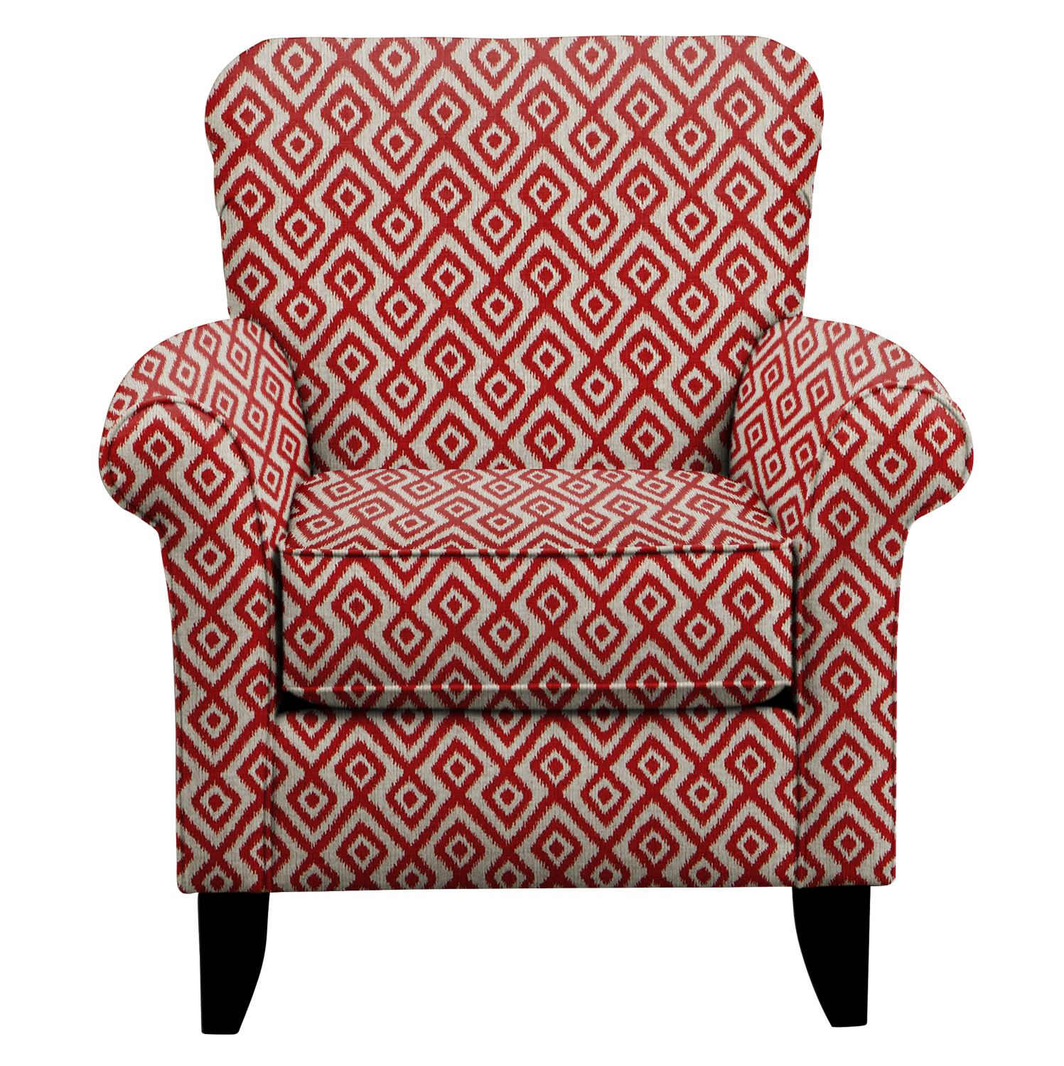 Tracy Chair w/ Tate Red Fabric