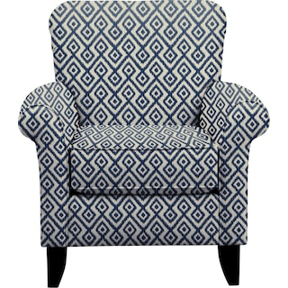 Tracy Chair w/ Tate Indigo Fabric
