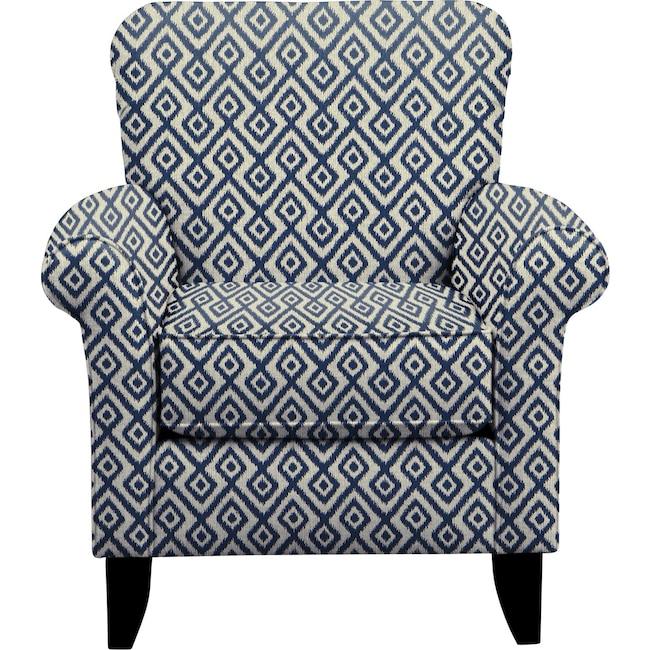 Living Room Furniture - Tracy Chair w/ Tate Indigo Fabric