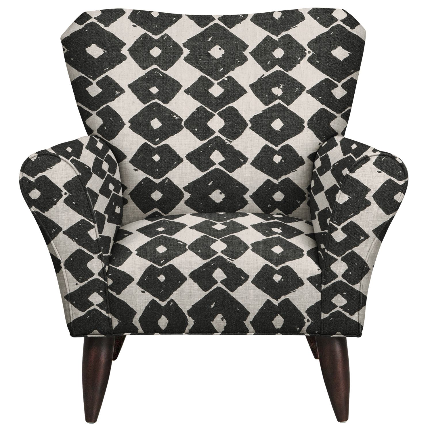 Jessie Chair w/ Beechwood Granite Fabric