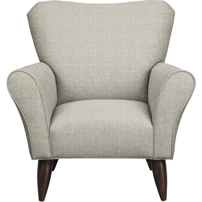 Living Room Furniture - Jessie Chair w/ Interlochen Slate Fabric