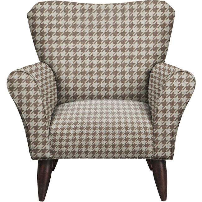 Living Room Furniture - Jessie Chair w/ Watson Putty Fabric