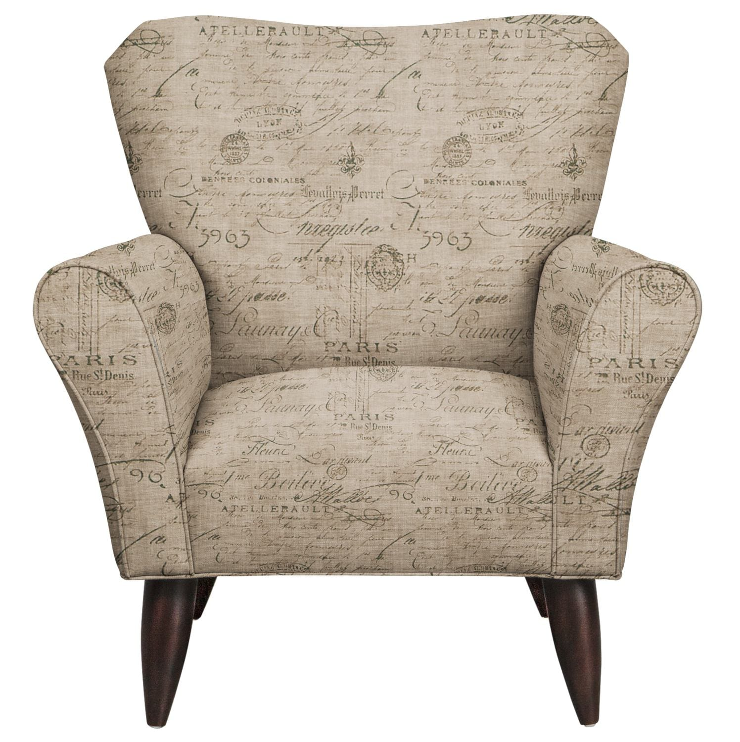 Living Room Furniture - Jessie Chair w/ Seine Gray Fabric