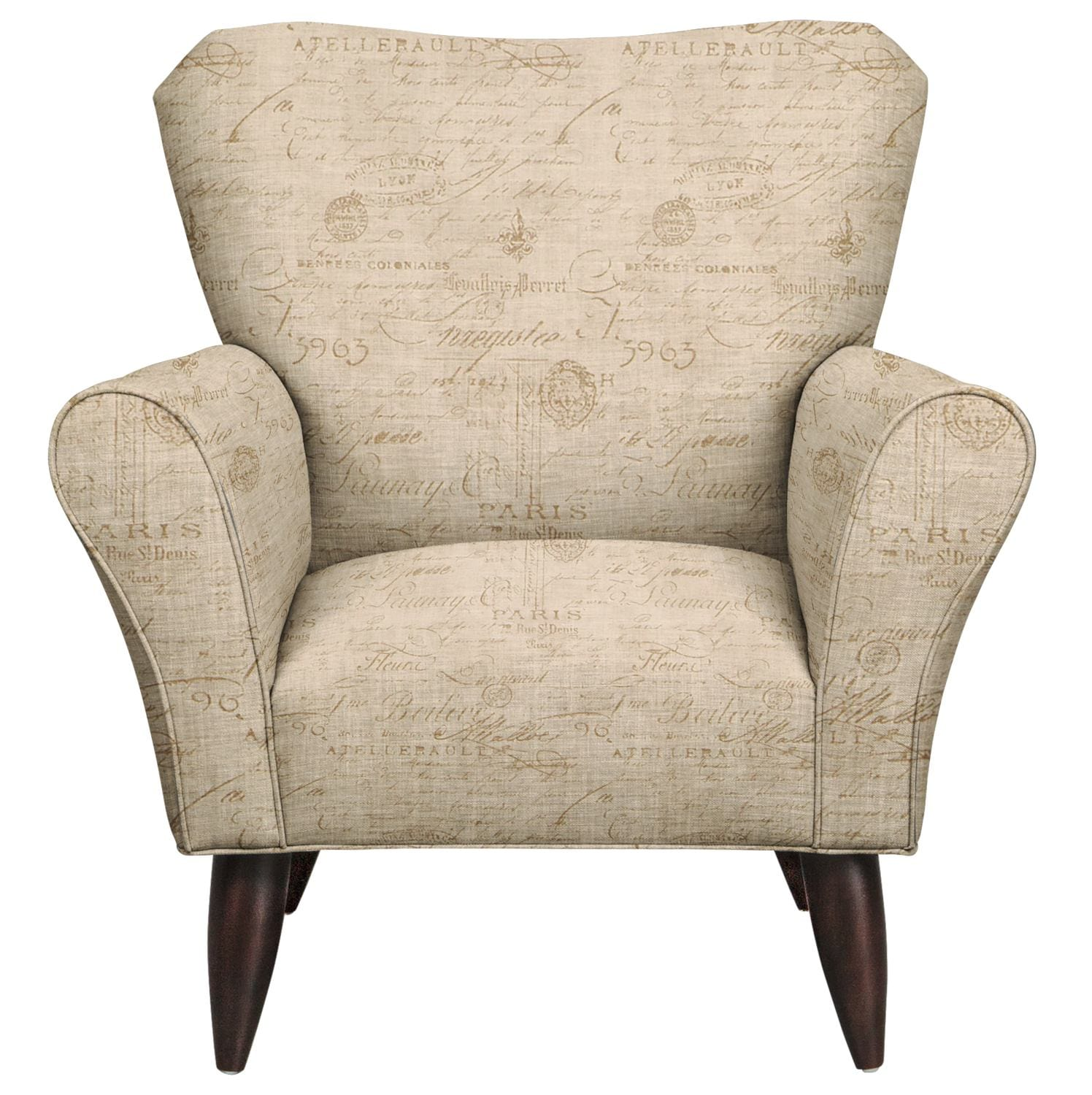 Living Room Furniture - Jessie Chair w/ Seine Mocha Fabric