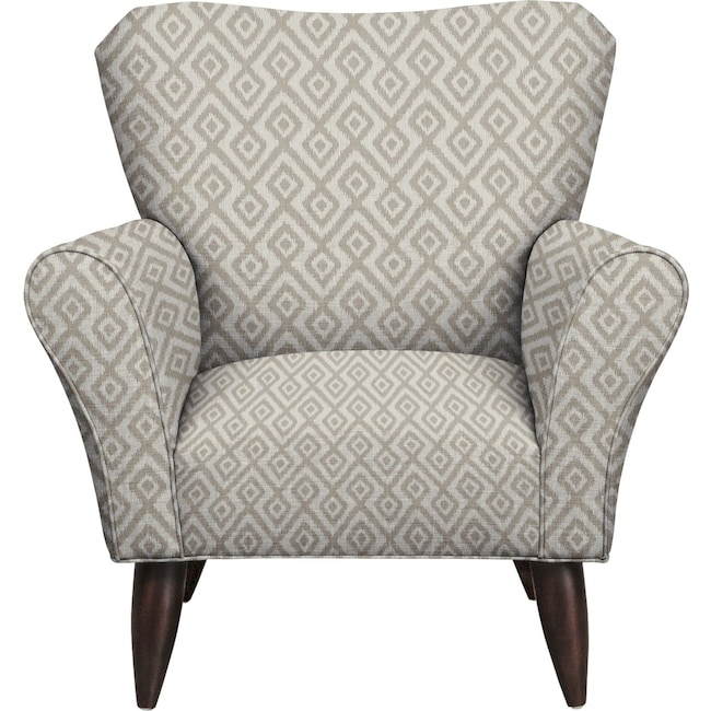 Living Room Furniture - Jessie Chair w/ Tate Dove Fabric