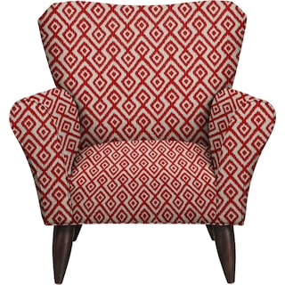 Jessie Chair w/ Tate Red Fabric