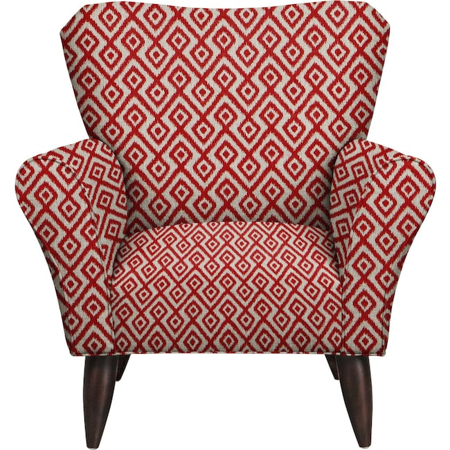 Jessie Chair w/ Tate Red Fabric | Value City Furniture and Mattresses
