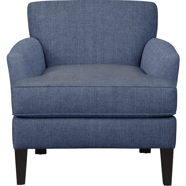 Living Room Furniture - Marcus Chair w/ Depalma Ink Fabric