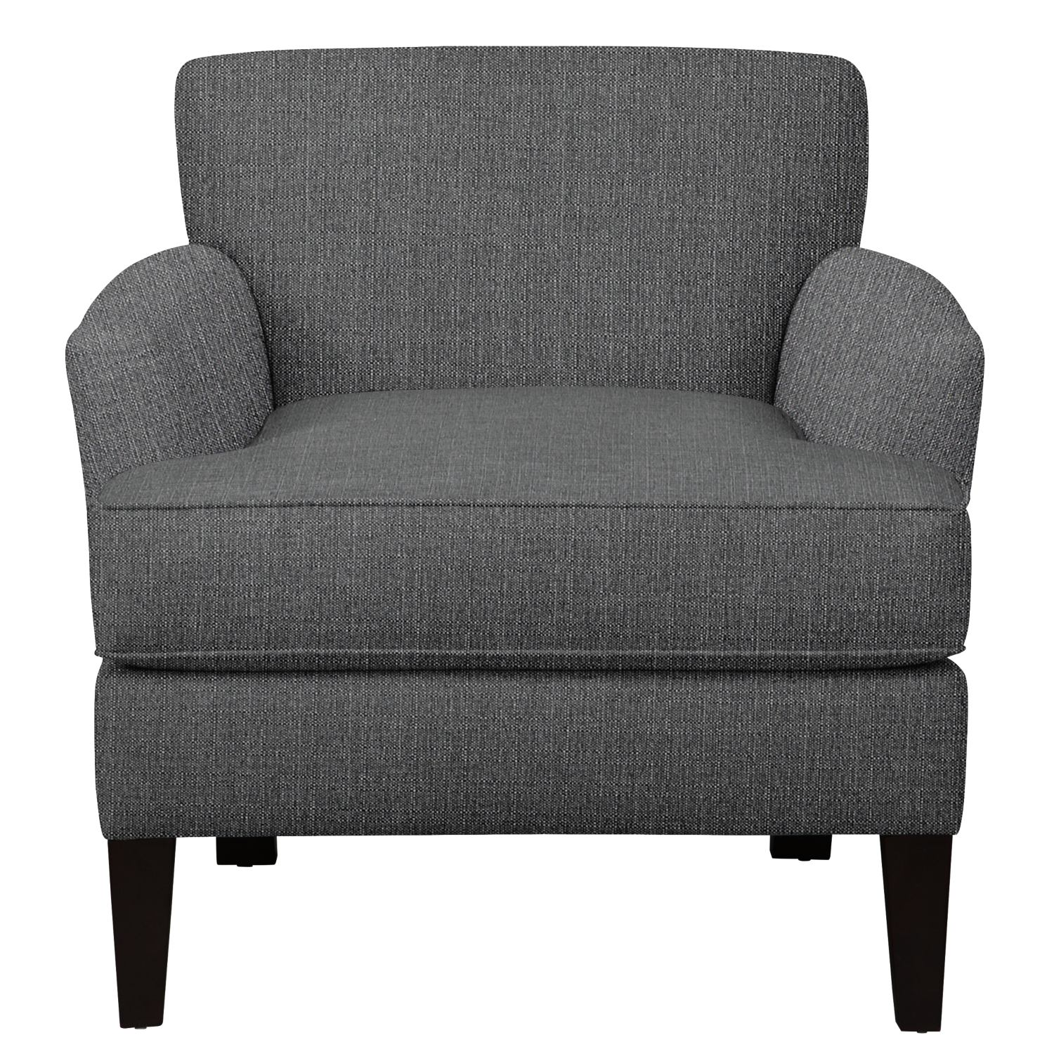 Living Room Furniture - Marcus Chair w/ Depalma Charcoal Fabric