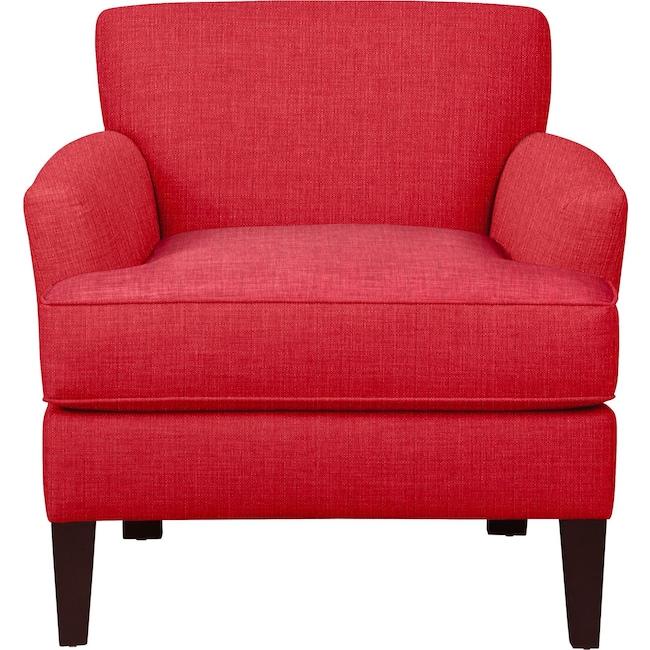Living Room Furniture - Marcus Chair w/ Depalma Cherry Fabric