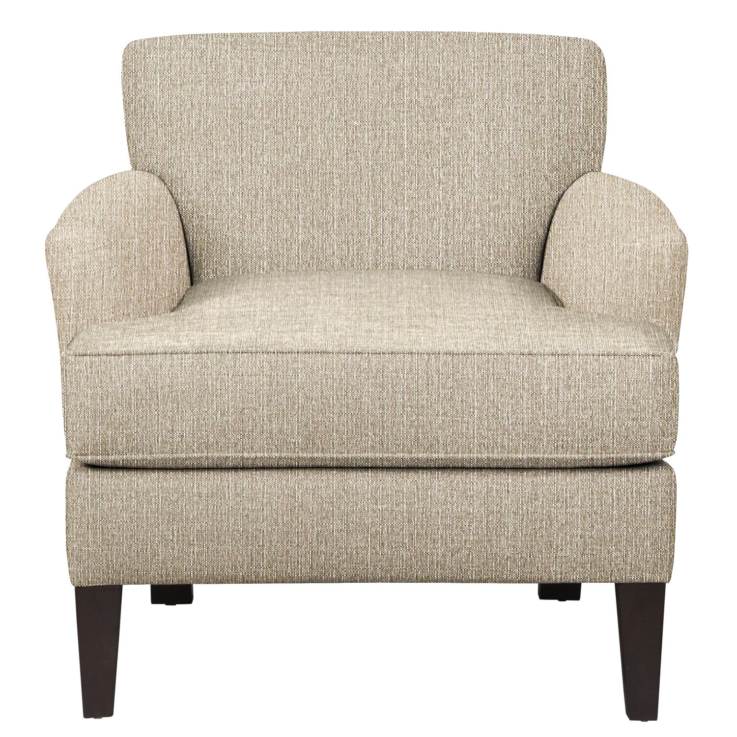Living Room Furniture - Marcus Chair w/ Depalma Taupe Fabric