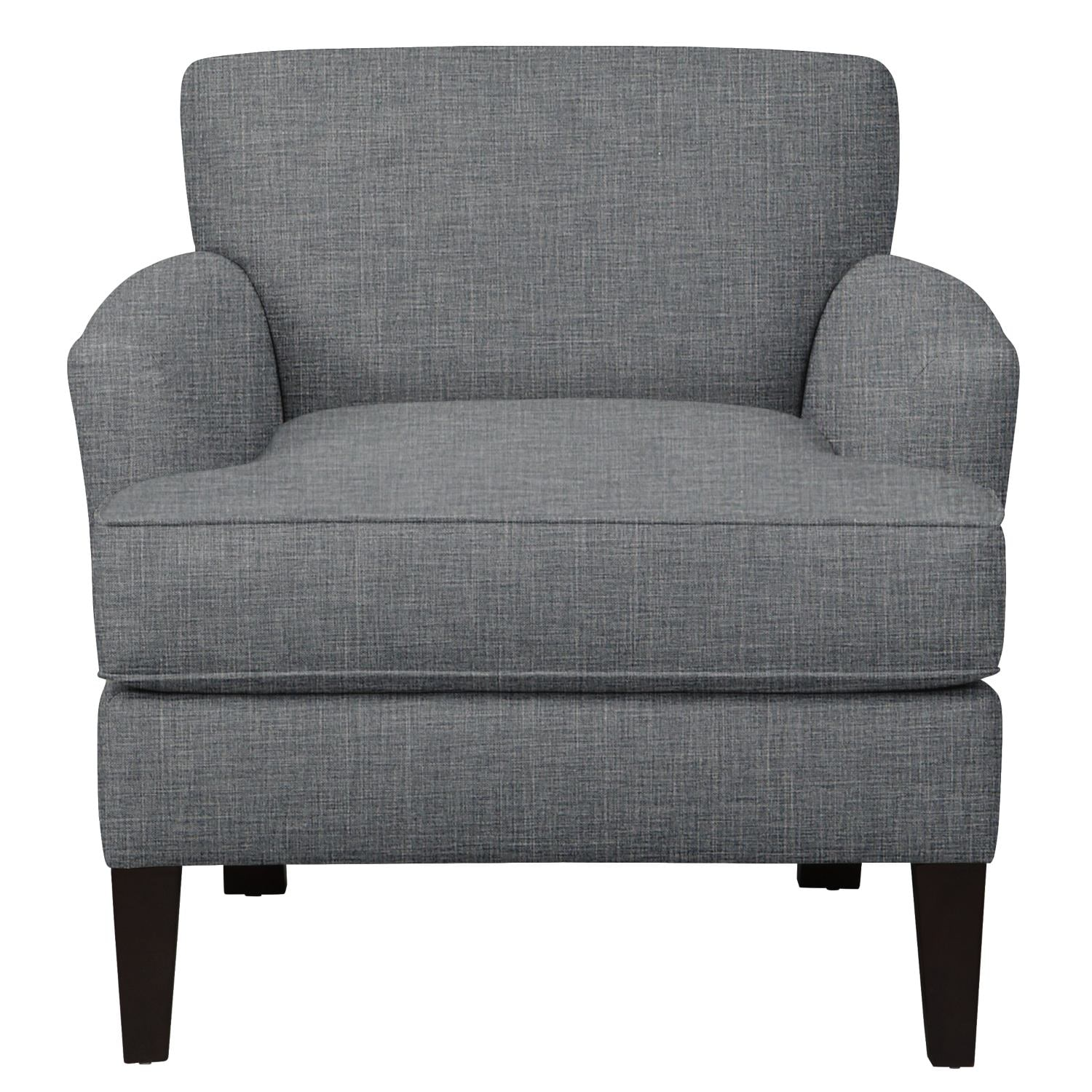 Living Room Furniture - Marcus Chair w/ Milford II Charcoal Fabric