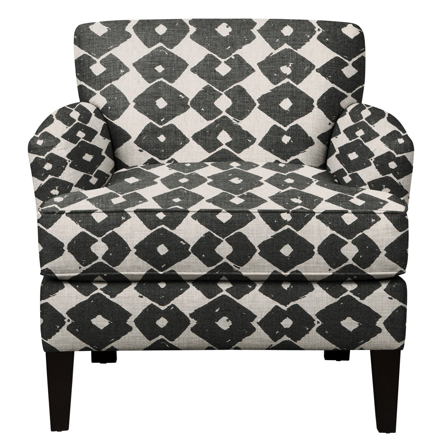 Living Room Furniture - Marcus Chair w/ Beechwood Granite Fabric