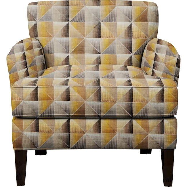 Living Room Furniture - Marcus Chair w/ Immortal Lemoncello Fabric