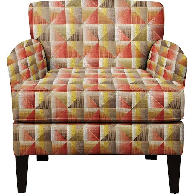 Living Room Furniture - Marcus Chair w/ Immortal Sienna Fabric