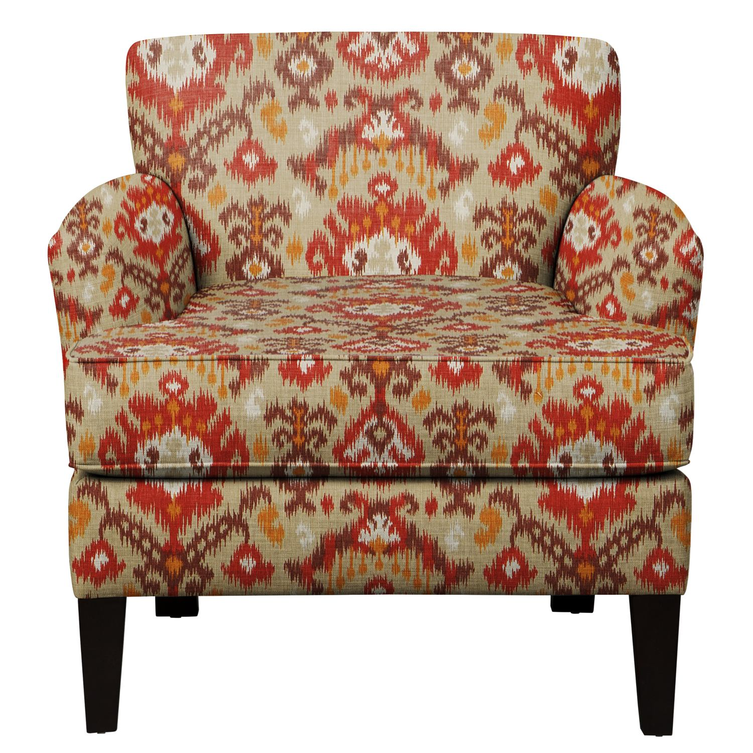 Living Room Furniture - Marcus Chair w/ Blurred Lines Sante Fe Fabric