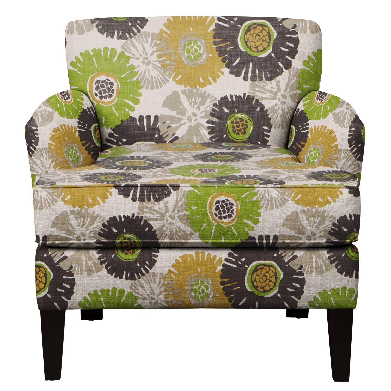 Marcus Chair w/ Star Burst Slate Fabric