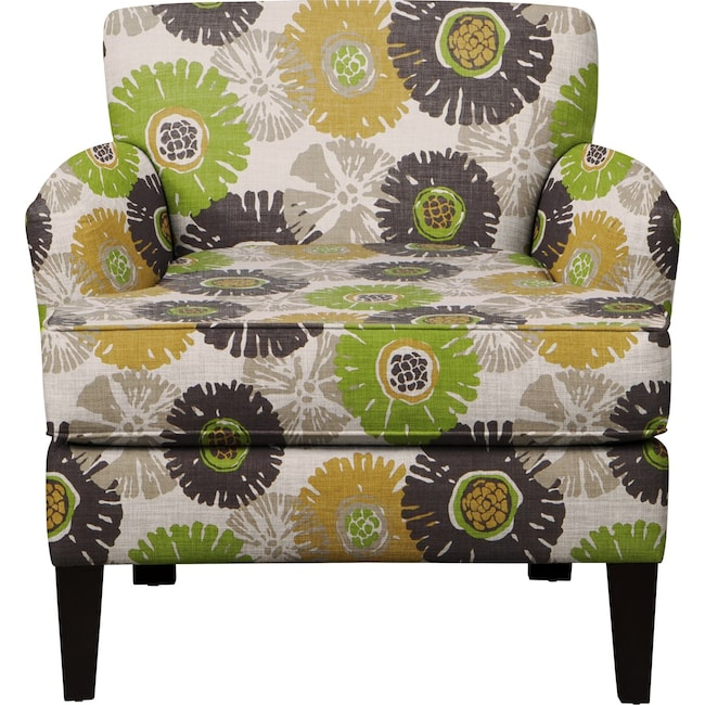 Living Room Furniture - Marcus Chair w/ Star Burst Slate Fabric