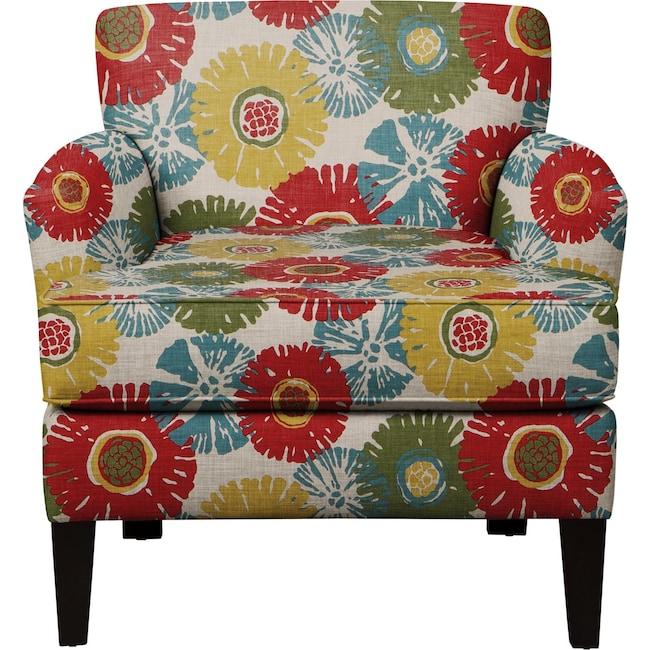 Living Room Furniture - Marcus Chair w/ Star Burst Tropic Fabric