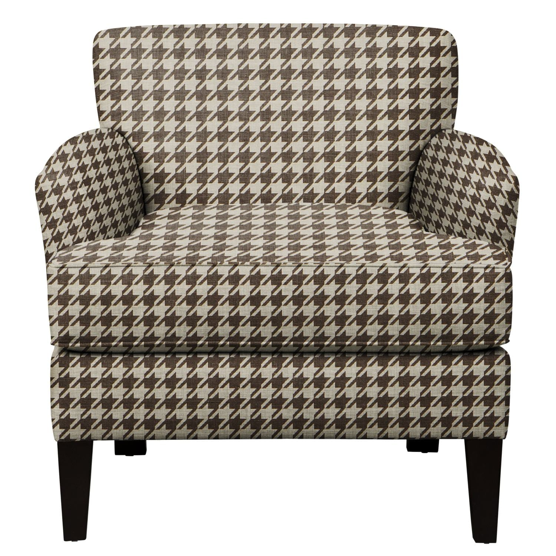 Living Room Furniture - Marcus Chair w/ Watson Chocolate Fabric