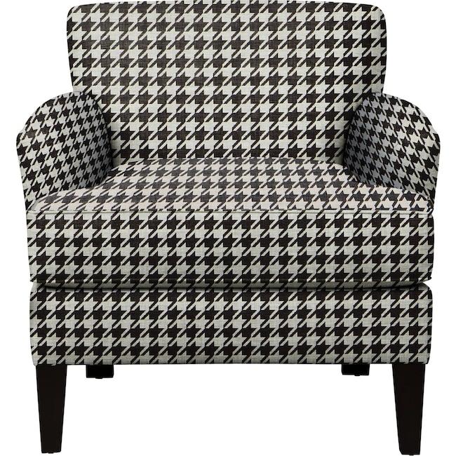 Living Room Furniture - Marcus Chair w/ Watson Tuxedo Fabric