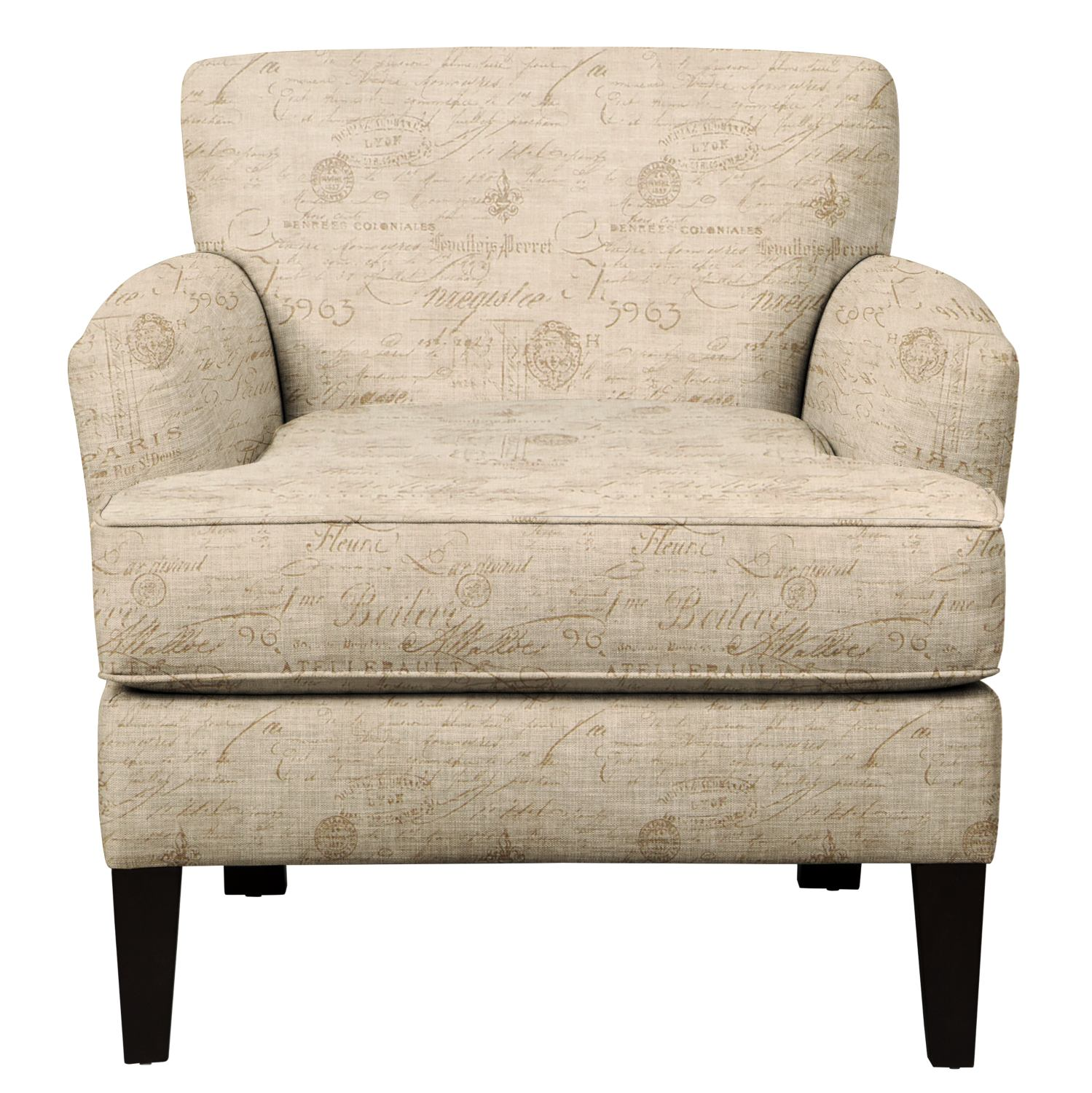 Living Room Furniture - Marcus Chair w/ Seine Mocha Fabric