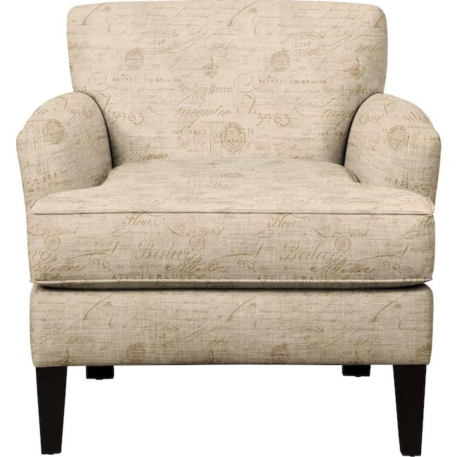 Living Room Furniture - Marcus Chair w/ Seine Mocha Fabric