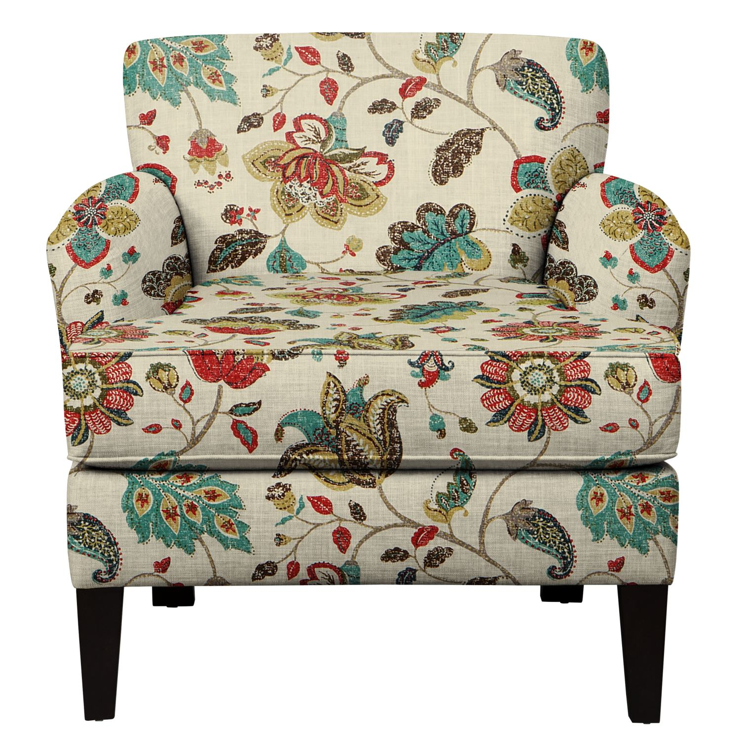 Accent And Occasional Furniture   Marcus Chair W/ Spring Mix Poppy Fabric