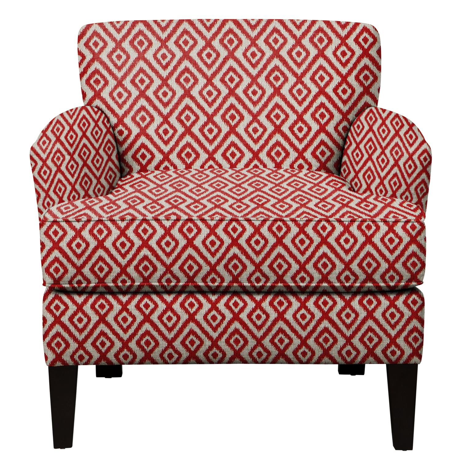 Marcus Chair w/ Tate Red Fabric