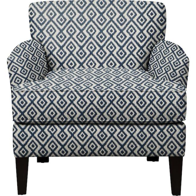 Living Room Furniture - Marcus Chair w/ Tate Indigo Fabric