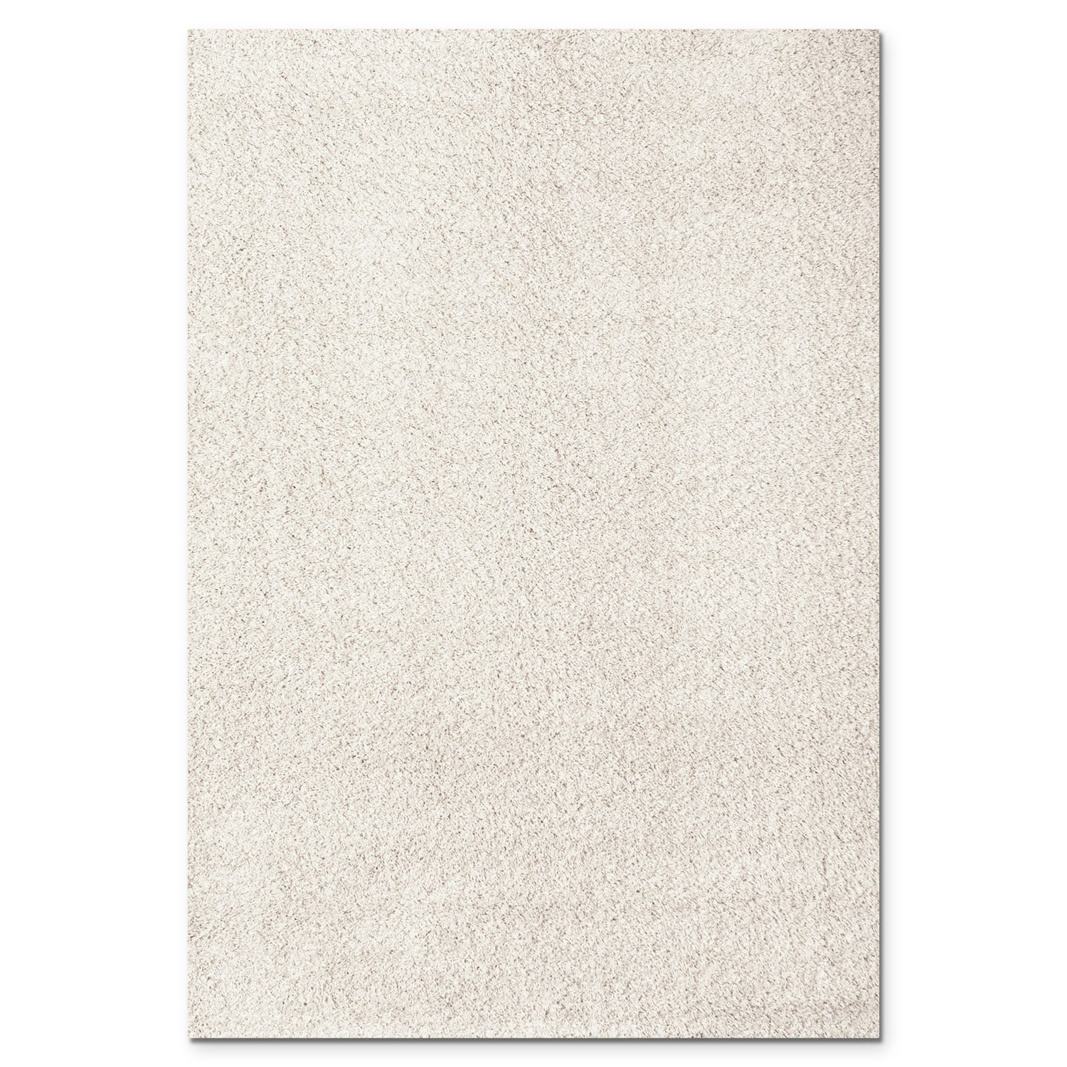 Rugs - Domino White Shag Area Rug (8' x 10')