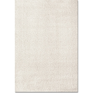 Domino White Shag Area Rug (5' x 8')