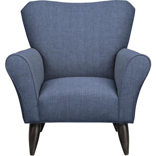 Living Room Furniture - Jessie Chair w/ Depalma Ink Fabric