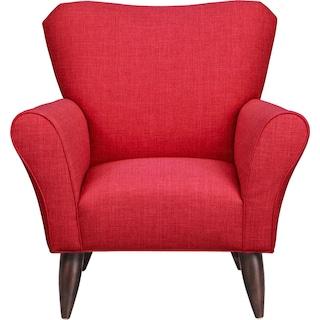 Jessie Chair w/ Depalma Cherry Fabric