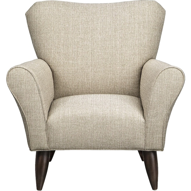 Living Room Furniture - Jessie Chair w/ Depalma Taupe Fabric