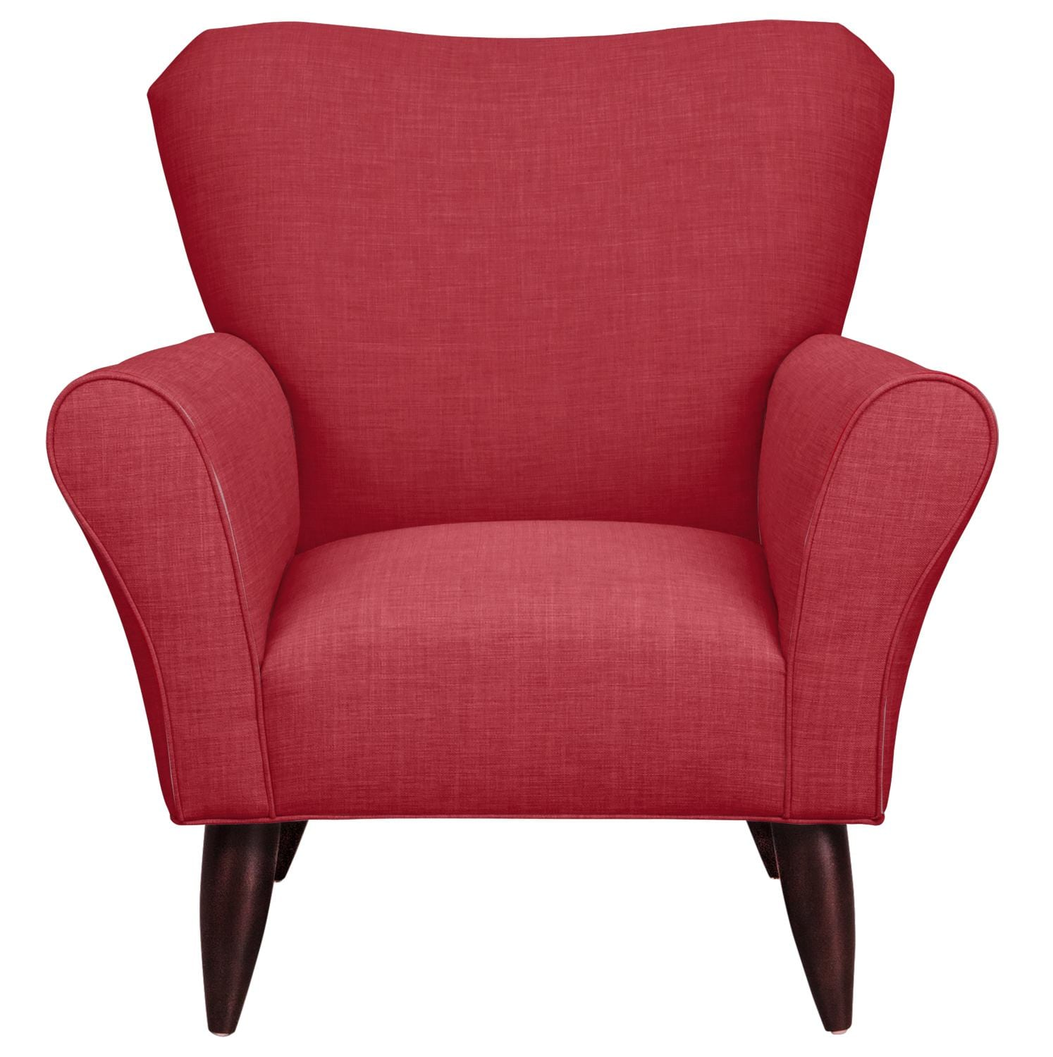Living Room Furniture - Jessie Chair w/ Oakley III Tomato Fabric