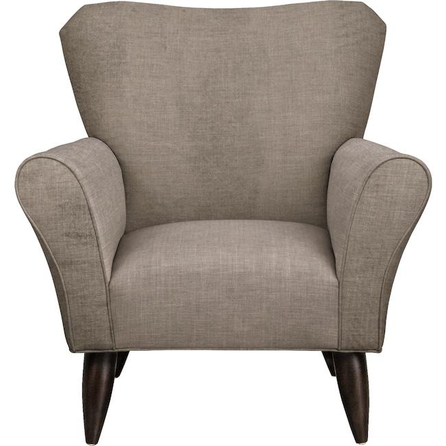 Living Room Furniture - Jessie Chair w/ Oakley III Granite Fabric