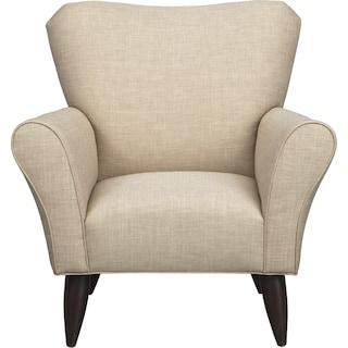 Jessie Chair w/ Milford II Toast Fabric