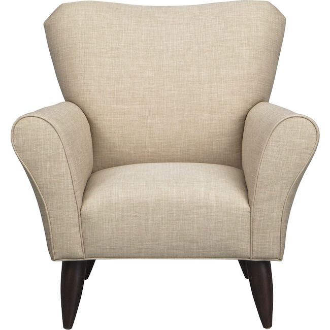 Living Room Furniture - Jessie Chair w/ Milford II Toast Fabric