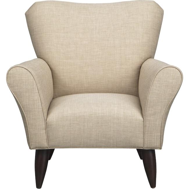 Living Room Furniture - Jessie Chair w/ Milford II Toast Fabric