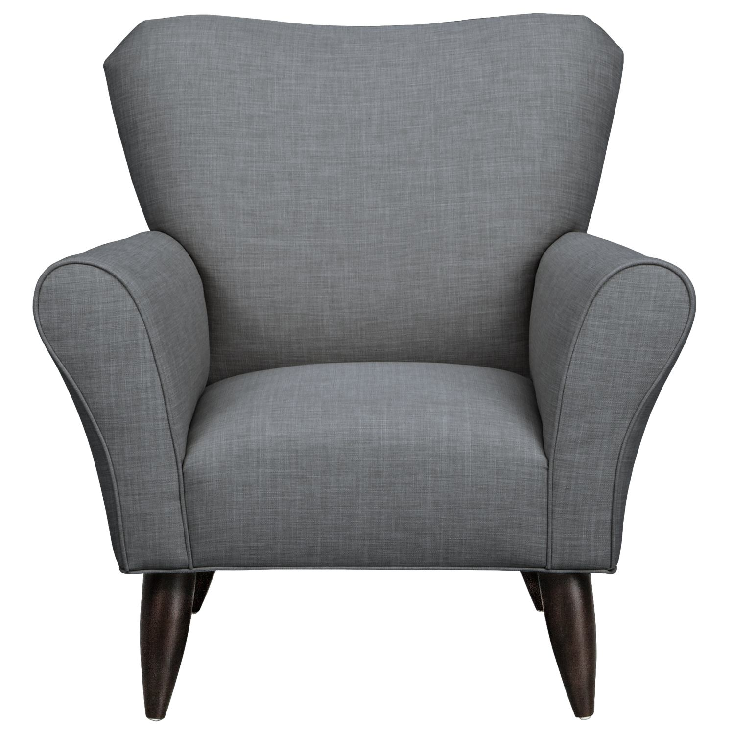 Living Room Furniture - Jessie Chair w/ Milford II Charcoal Fabric