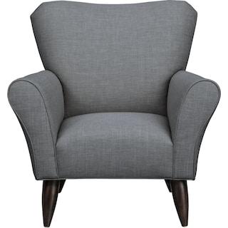Jessie Chair w/ Milford II Charcoal Fabric
