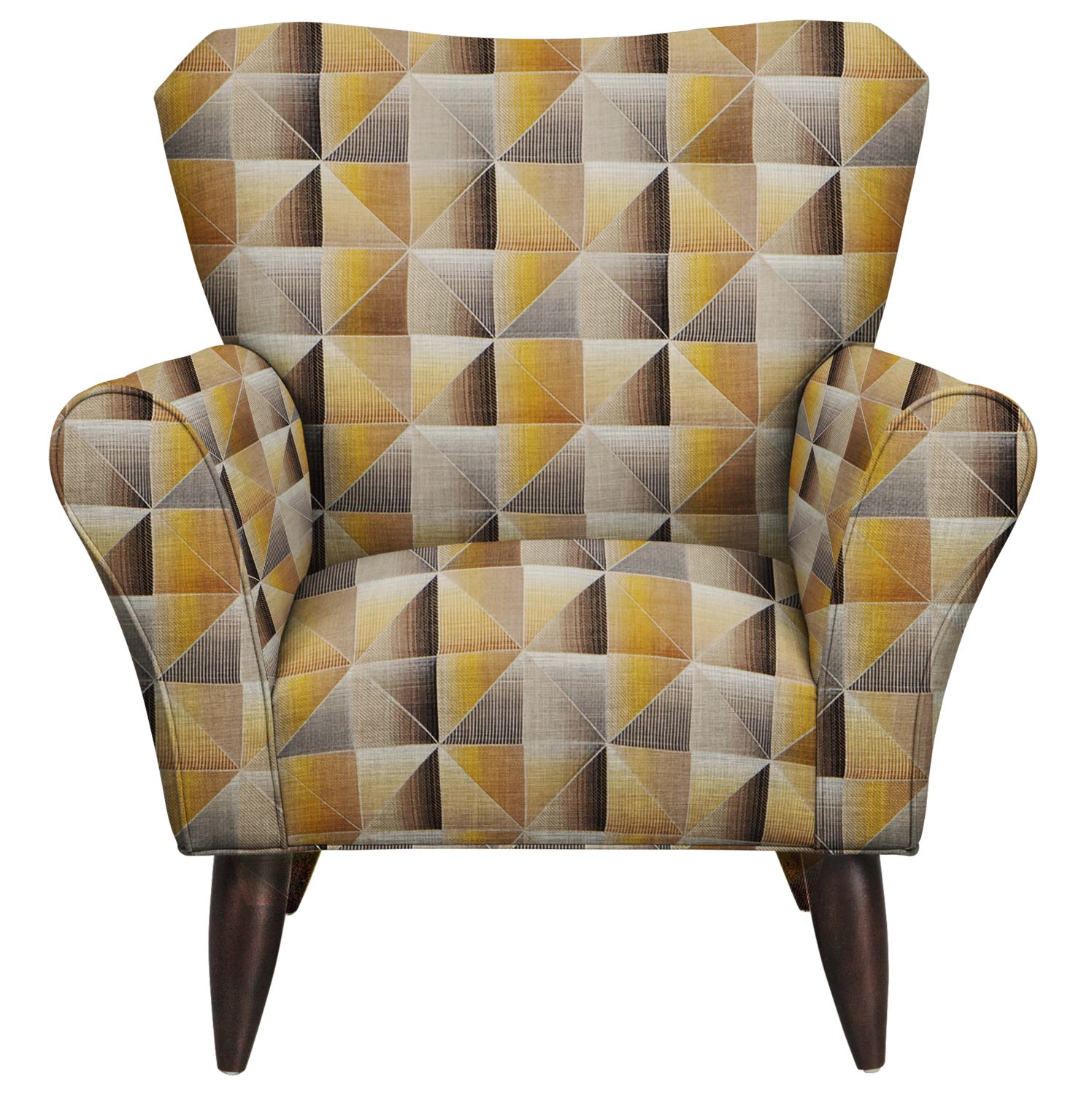 Living Room Furniture - Jessie Chair w/ Immortal Lemoncello Fabric