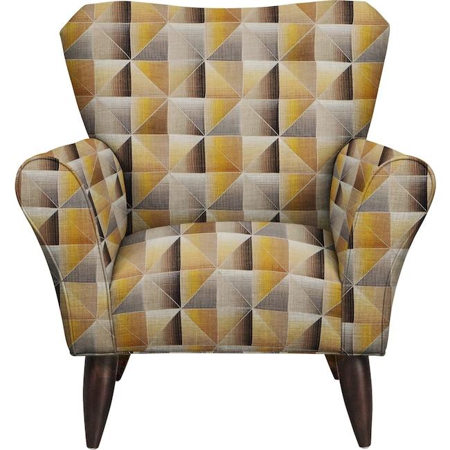Living Room Furniture - Jessie Chair w/ Immortal Lemoncello Fabric