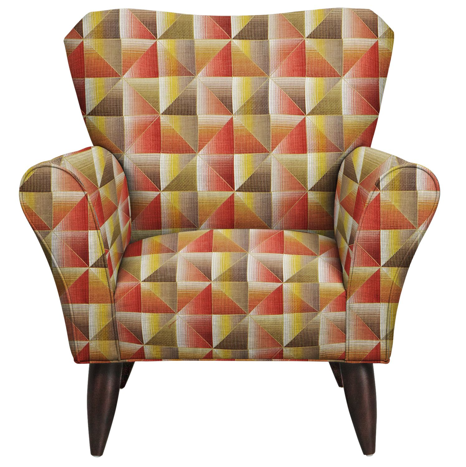 Living Room Furniture - Jessie Chair w/ Immortal Sienna Fabric