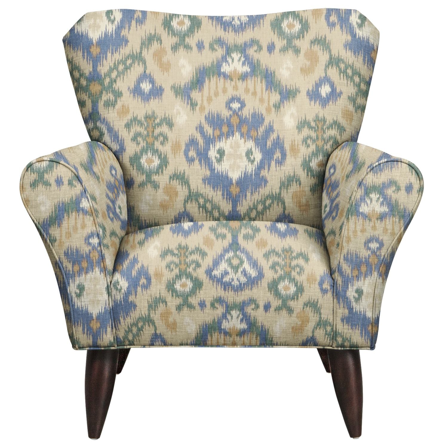 Living Room Furniture - Jessie Chair w/ Blurred Lines Big Sky Fabric