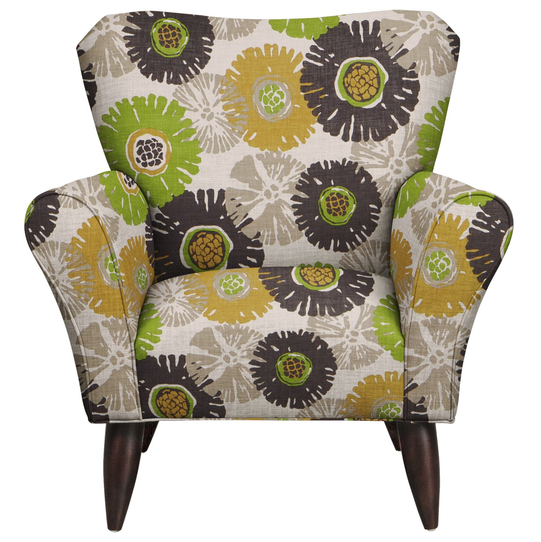 Living Room Furniture - Jessie Chair w/ Star Burst Slate Fabric