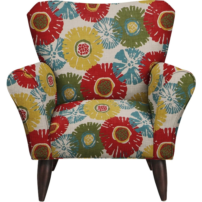 Living Room Furniture - Jessie Chair w/ Star Burst Tropic Fabric