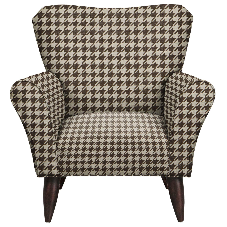 Living Room Furniture - Jessie Chair w/ Watson Chocolate Fabric