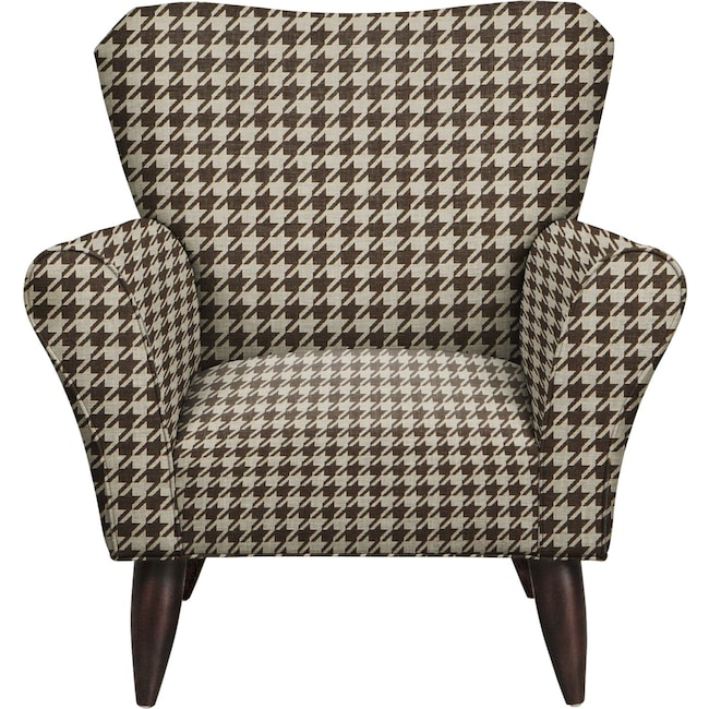 Living Room Furniture - Jessie Chair w/ Watson Chocolate Fabric